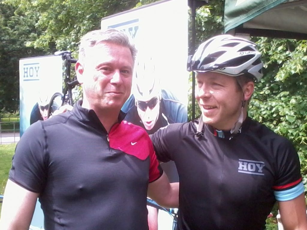 Chris Murray and Chris Hoy